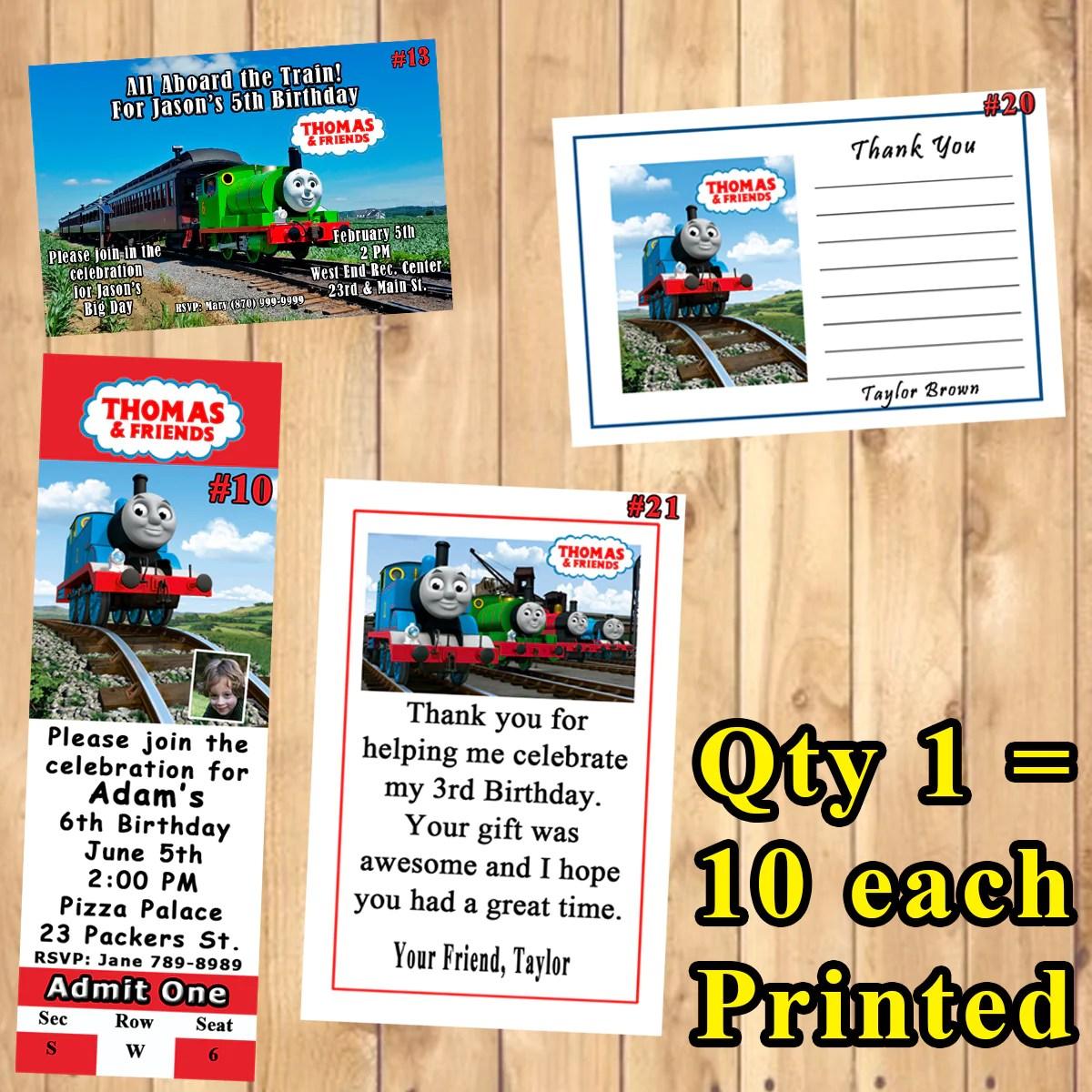 thomas the train thomas and friends birthday invitations printed 10 ea virginia design shop