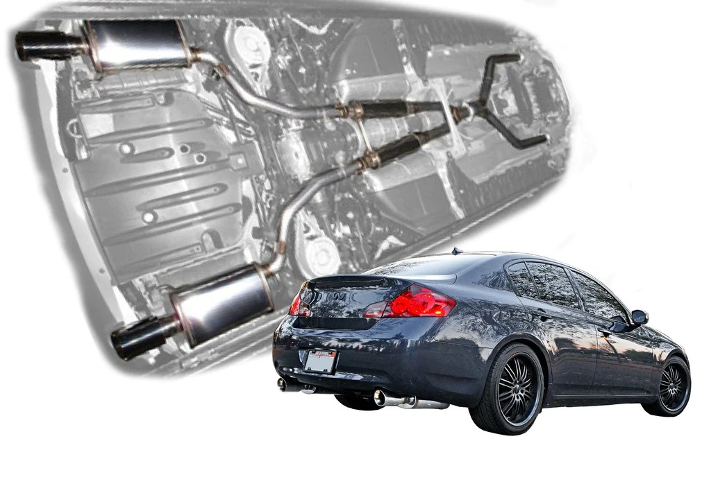 2007 2008 infiniti g35 sedan stainless steel cat back exhaust system 504375