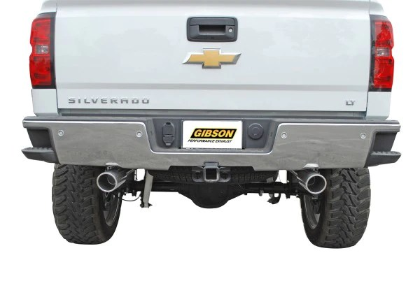 chevy silverado gmc sierra 1500 crew cab dual split rear exhaust system aluminized