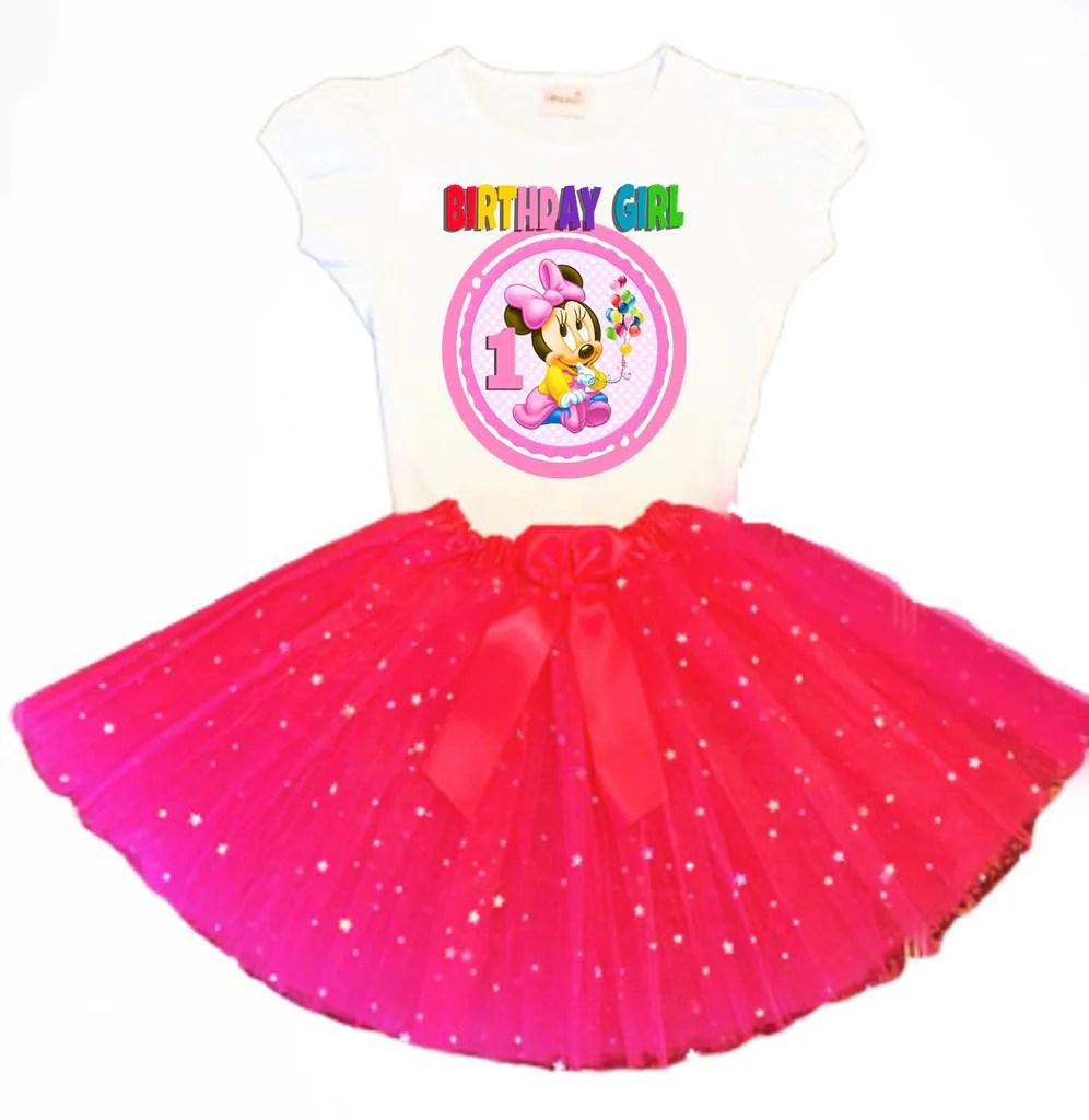 Minnie Mouse Birthday Tutu Party Dress Fuchsia Tutu Outfit Birthdaytutustore