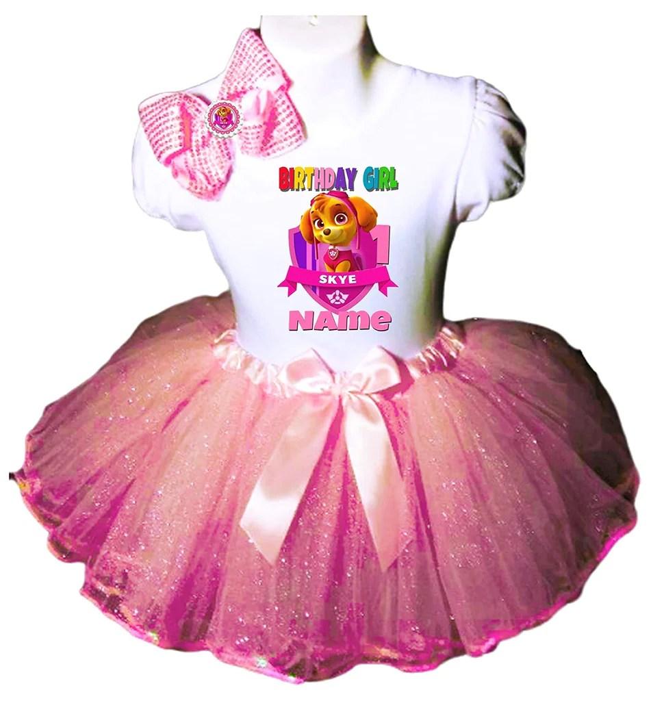 Skye Birthday Outfit Pink Tutu Party Dress Shirt Paw Patrol Birthdaytutustore