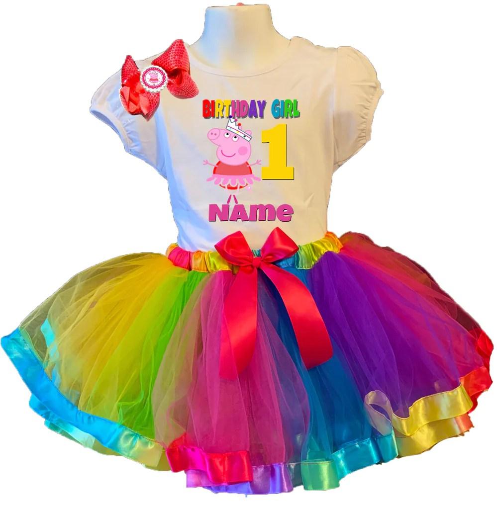 Clothing Girls Peppa Pig Birthday Tutu Peppa Pig Tutu Dress Peppa Tutu Costume Peppa Pig Costume Girls Peppa Pig Tutu Dress Peppa Pig Costume Girls Clothing