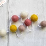 Felt Ball Garland Spring Sunrise Krafty Hands Designs