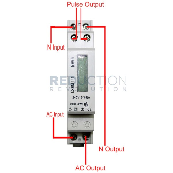 Single Phase Electricity kWh Sub Meter (45 Amp)