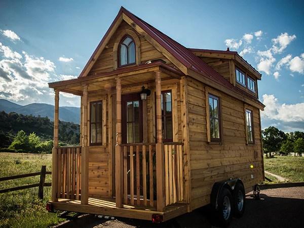 A tiny house on wheels.
