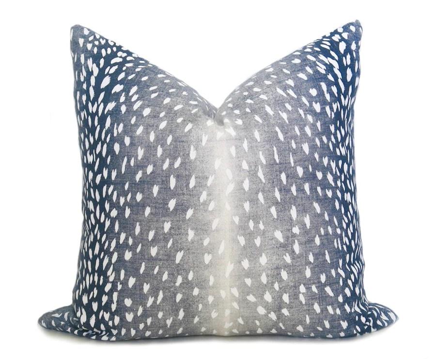 antelope pillow cover navy denim