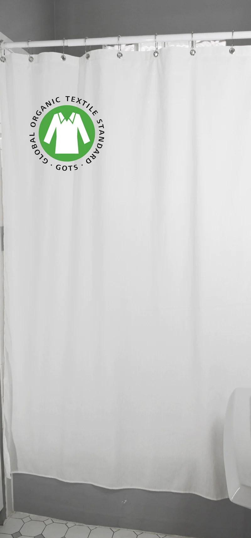 Organic Cotton Shower Curtain Bath Tub Stall Sizes