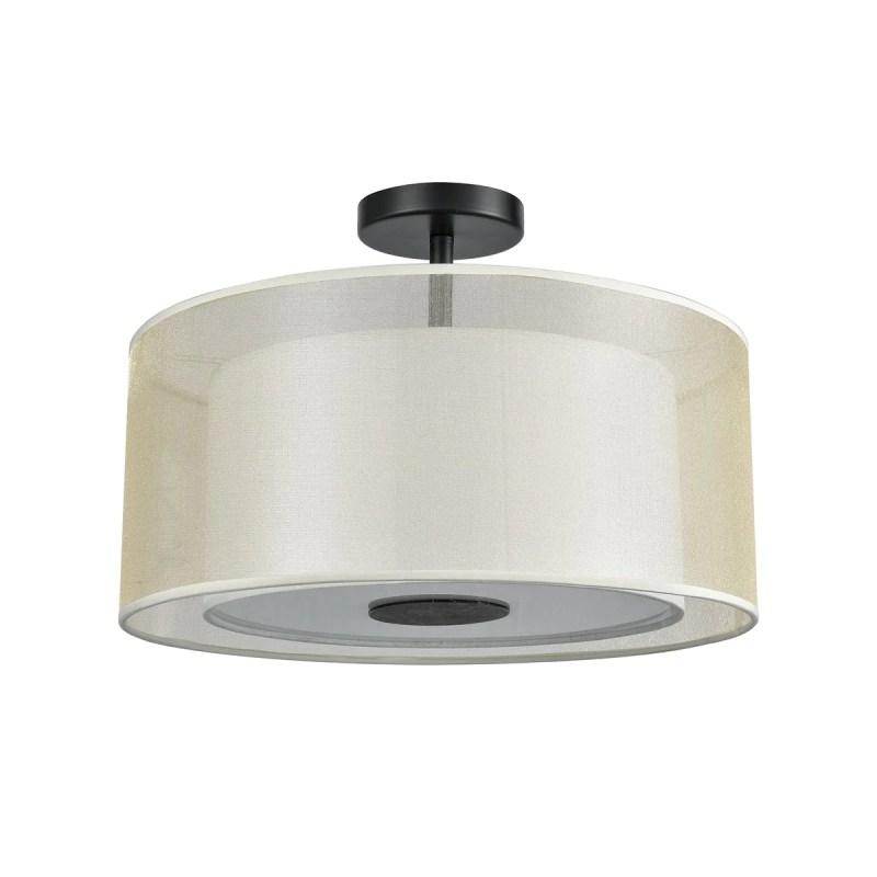 Ashland 2 Semi Flush Mount In Matte Black Design By Bd Fine Lighting