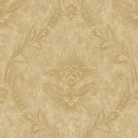 Elegant Gold Wallpaper Patterns   Designs   Burke D    cor     BURKE DECOR Acanthus Fan Wallpaper in Gold and Pearlescent Neutrals by Antonina Vella  for York Wallcoverings
