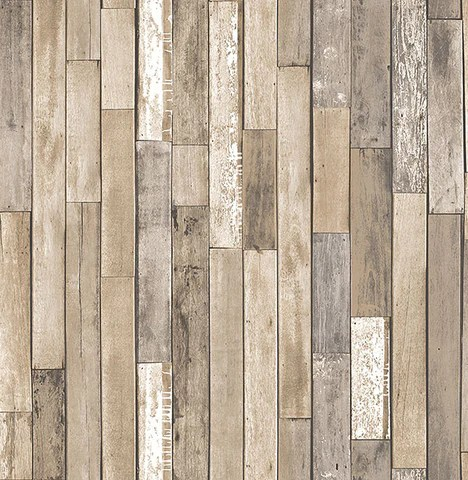 Modern   Rustic Faux Wood Wallpaper   Burke D    cor     BURKE DECOR Barn Board Brown Thin Plank Wallpaper from the Essentials Collection by  Brewster Home Fashions