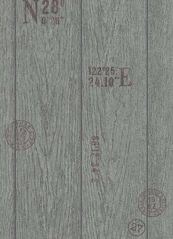 Modern   Rustic Faux Wood Wallpaper   Burke D    cor     BURKE DECOR Brenden Faux Wood Wallpaper in Grey and Black design by BD Wall