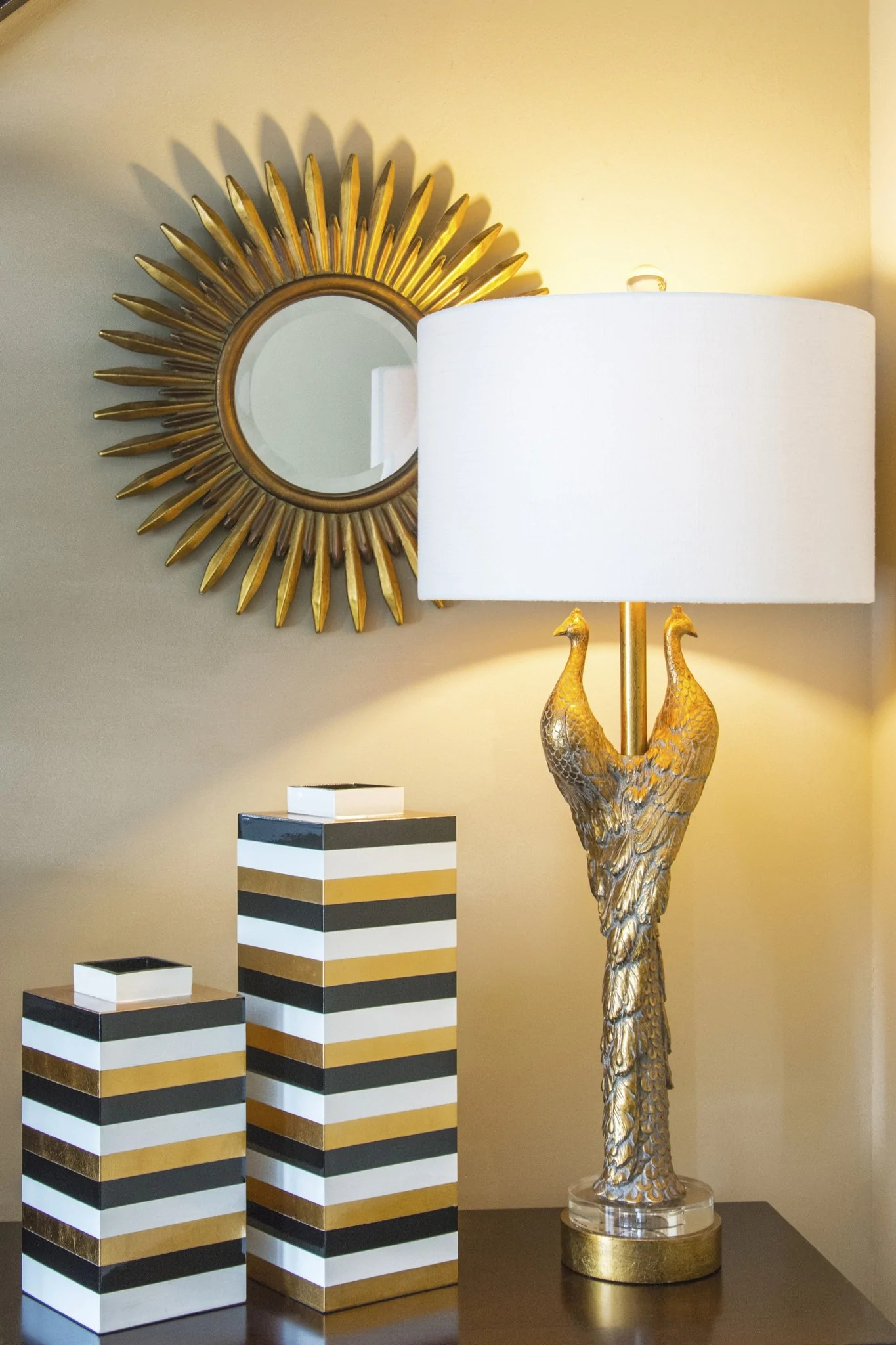Golden Peacock Table Lamp Design By Couture Lamps BURKE