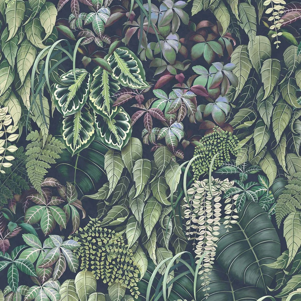 Sample Green Wall Wallpaper In Emerald Green From The Folium Collectio Burke Decor
