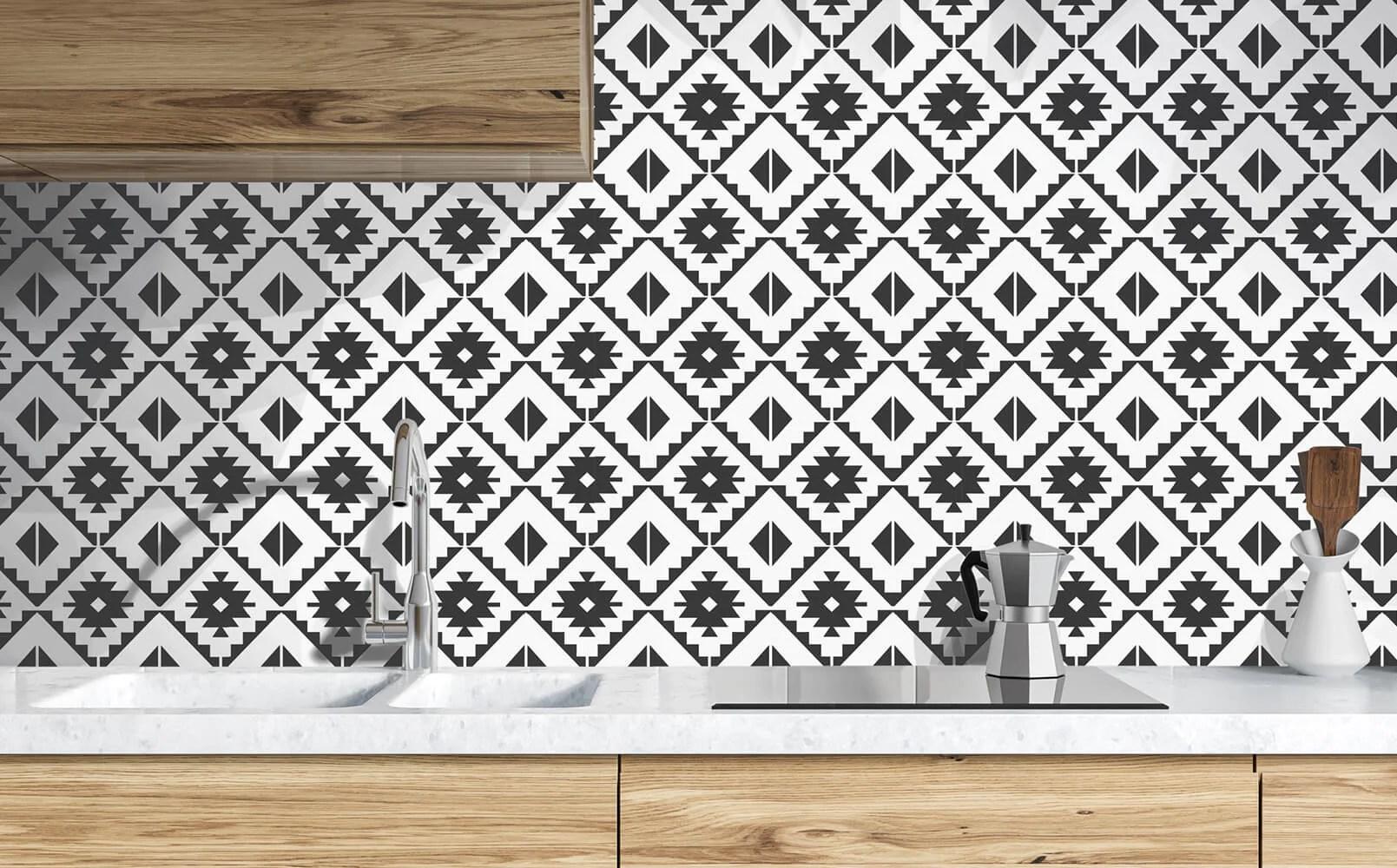 southwest tile peel and stick wallpaper