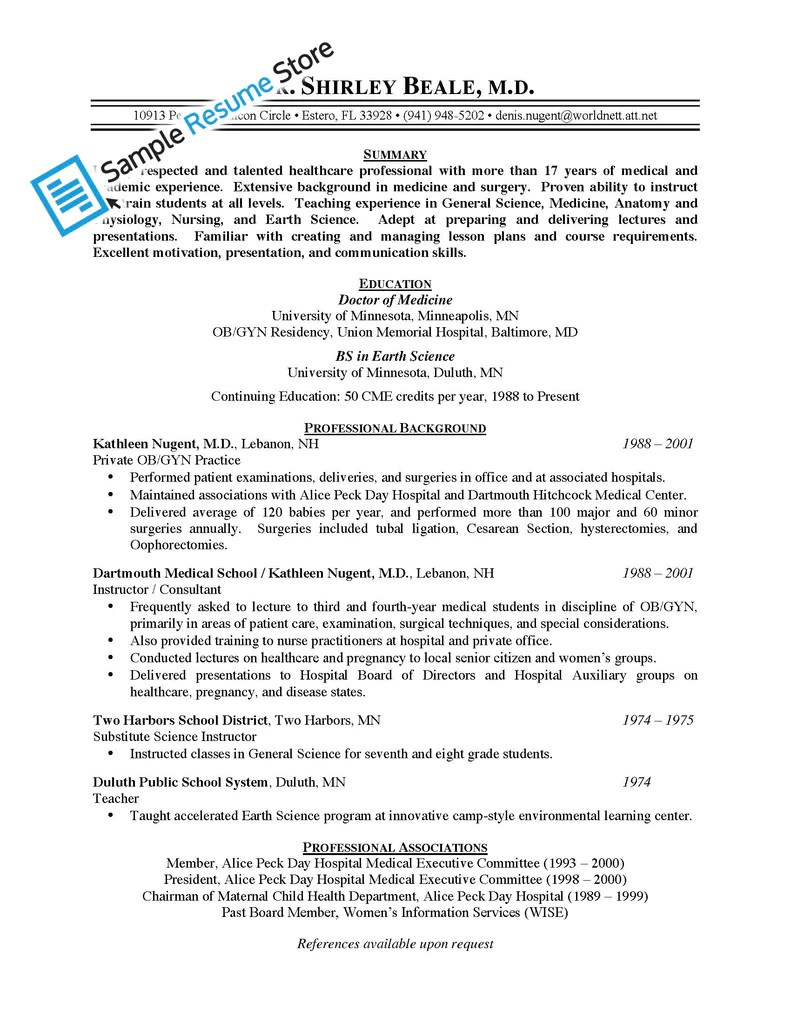 physician resume more than 500 cv resume examples