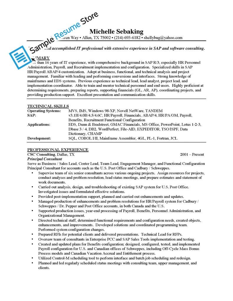 sap resumes sample bi sap cons resume x sap resume samples business