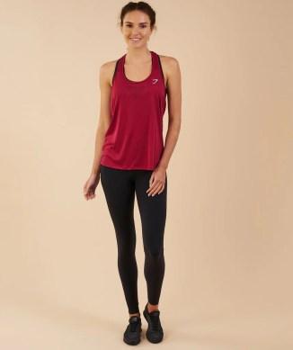 Gymshark T-Bar Vest - Beet 4