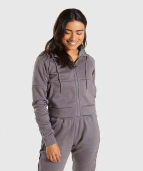 Gymshark Comfy Tracksuit Zip Hoodie - Slate Lavender 4