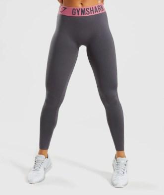 Gymshark Fit Leggings - Charcoal/Dusky Pink 4