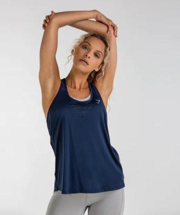 Gymshark T-Bar Vest - Sapphire Blue 1
