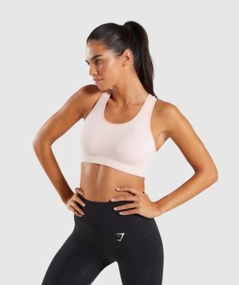 Gymshark Vital Seamless Sports Bra - Blush Nude Marl 4