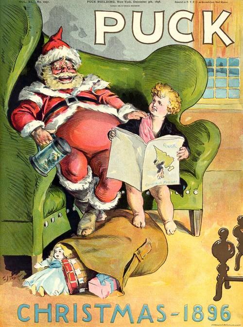 Puck Christmas 1896 Vintagraph