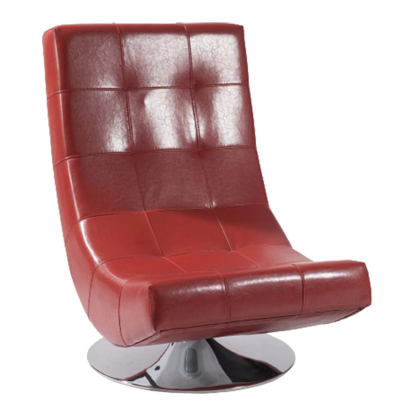 Buy Armen Living Lc3634clre Mario Swivel Chair Red Bonded Leather At Contemporary Furniture Warehouse