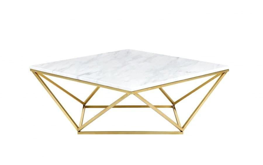Buy Meridian 216 C Mason Gold Coffee Table Genuine White Marble