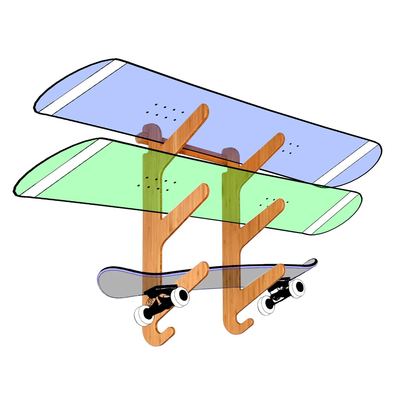bamboo skateboard racks grassracks