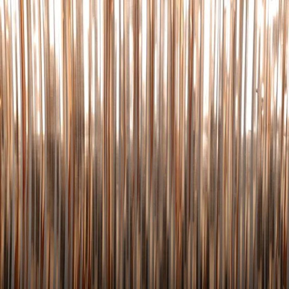 rose gold foil fringe curtain