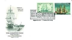 War of 1812 Bicentennial Stamp First Day Cover: Defeat of HMS Guerriere Cachet