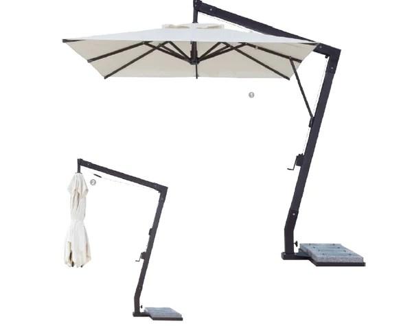 restaurant fiberglass offset patio umbrella 10 foot x 10 foot square cheeky umbrella