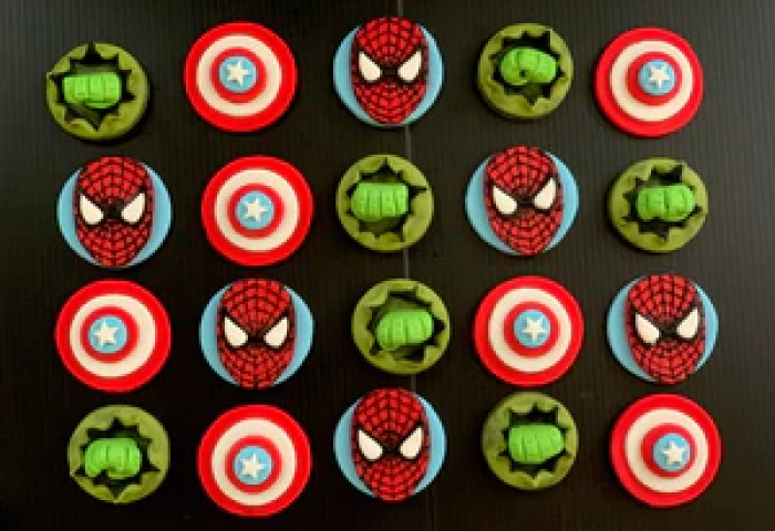 Fondant Cupcake Toppers Tagged Superheroes Sabzcakes