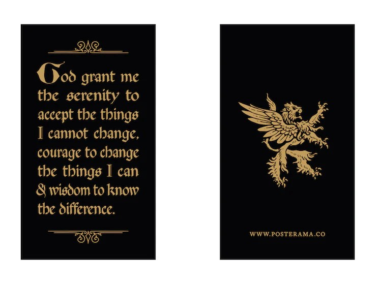 Top 10 Serenity Prayer Typography Posters For Sale Www