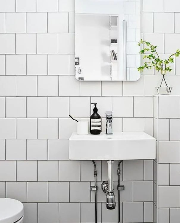 6 x6 square matte white ceramic wall