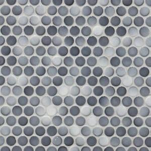 mix dark gray penny round porcelain mosaic box of 10 sheets floor and wall tile backsplash tile bathroom tile on mesh for easy installation