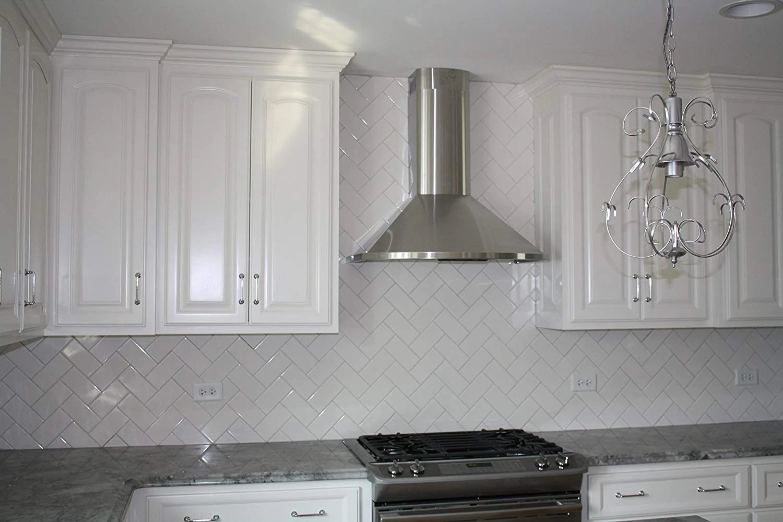 white ceramic 3x6 subway tile matte finish for kitchen backsplash and bathroom wall 10 sq ft free shipping