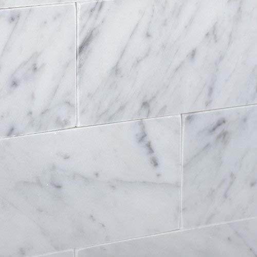 carrara marble italian white bianco 3x6 honed subway tile free shipping