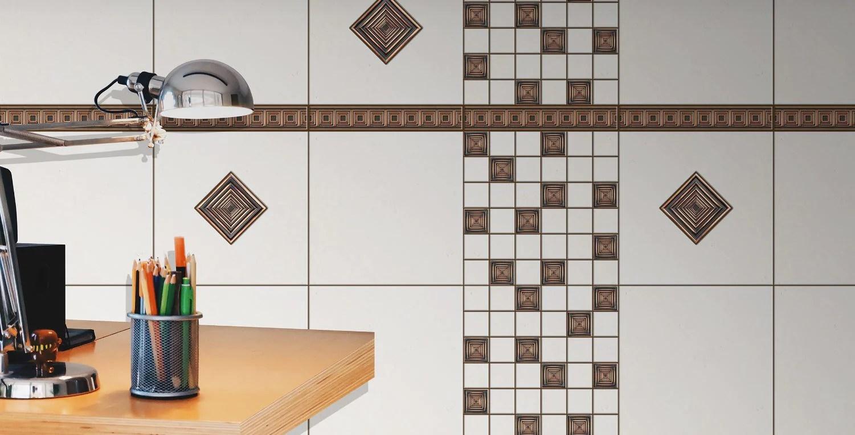 resin venetian bronze metallic look 2 x 8 liner trim geometric border wall tile for kitchen backsplashes bathroom walls venetian bronze pack