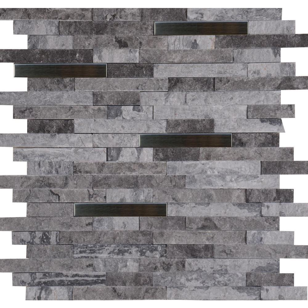 ms international eclipse interlocking 12 in x 12 in x 8 mm metal stone mesh mounted wall tile free shipping