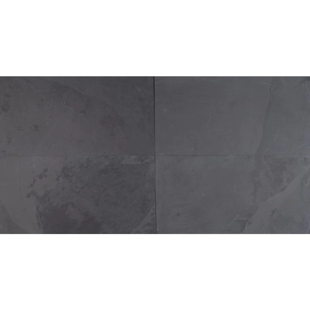 ms international montauk black 12 in x 24 in gauged slate floor and wall tile 10 sq ft case free shipping