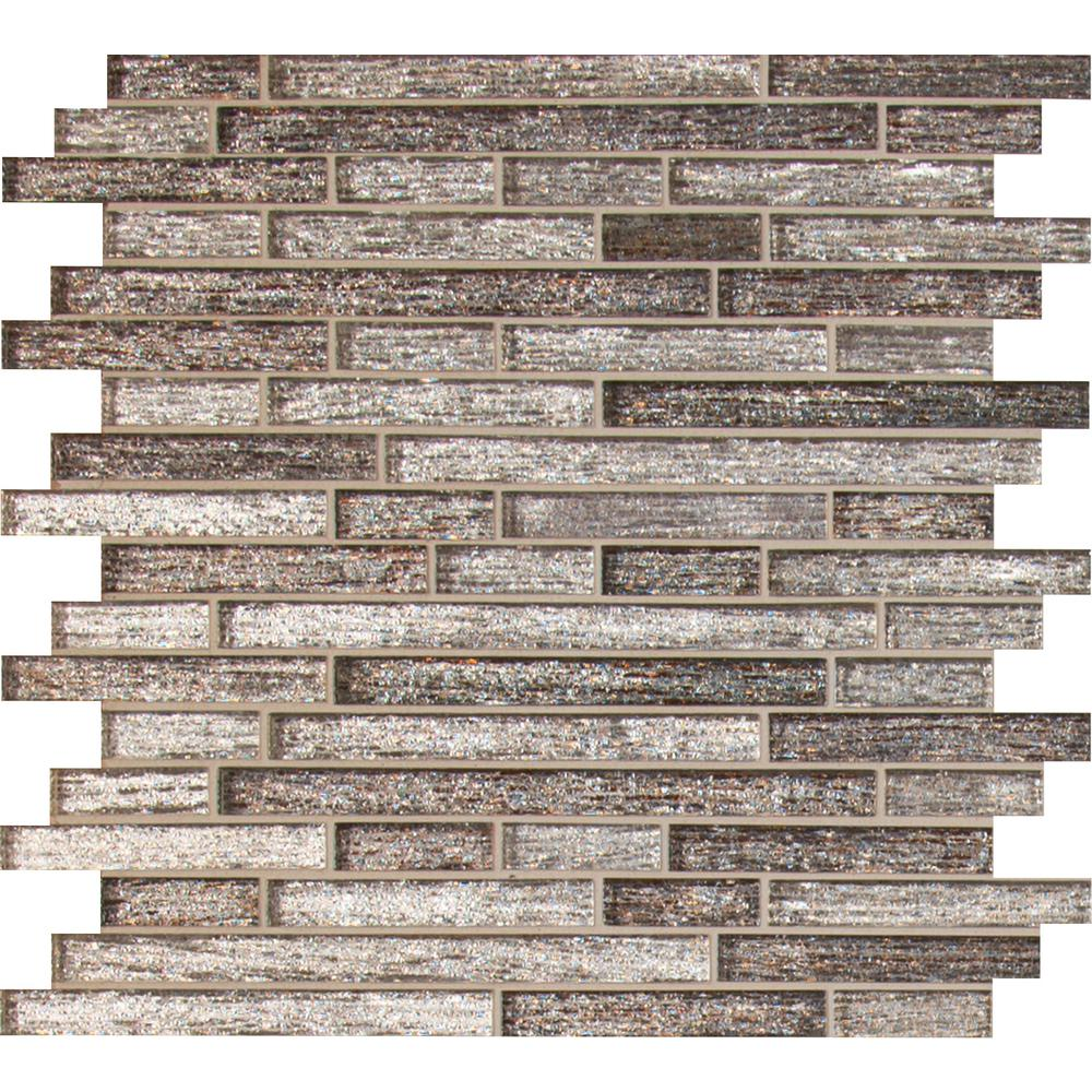 msi luxe interlocking pattern glass mesh mounted mosaic tile box of 10 sheets free shipping