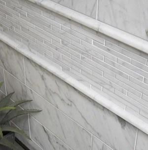 carrara white italian bianco carrara marble 1 2 x 12 pencil liner trim molding free shipping