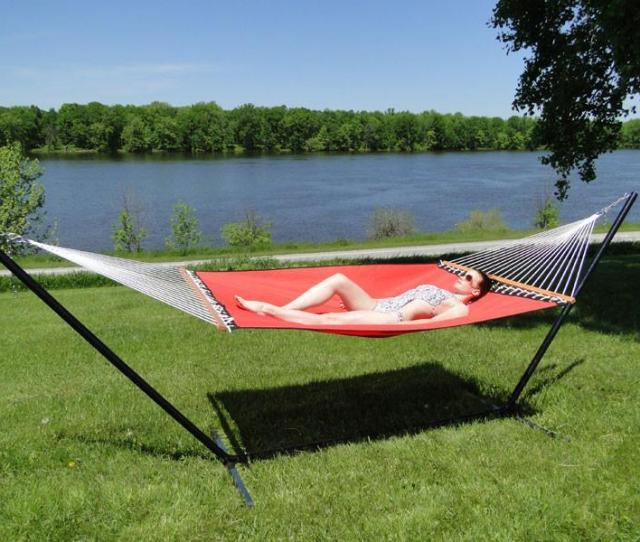 Poolside Lake Hammock With 3 Beam Stand Hammock Universe Canada