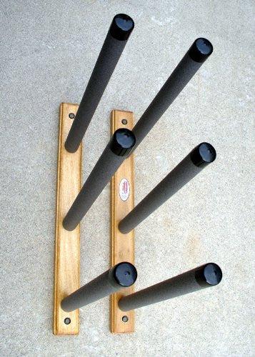 surfboard wall rack triple wooden deluxe new