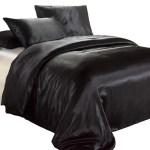 Luxury Black Satin Quilt Cover Set Satin Doona Covers Australia