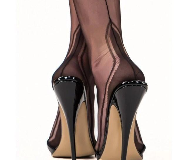 Gio Manhattan Heel Seamed Stockings  Non Stretch Nylon  Retro