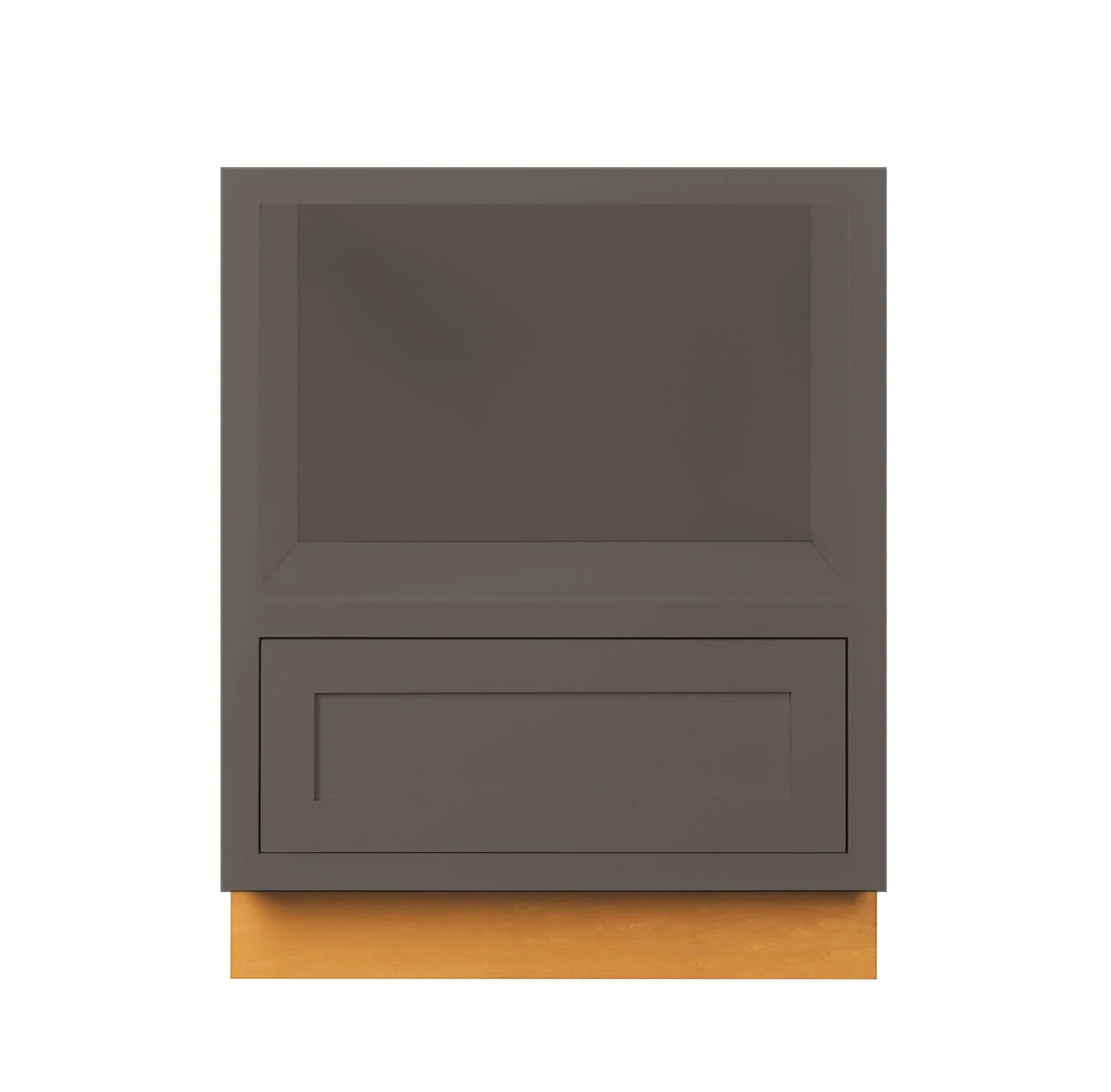 dark gray inset shaker microwave base cabinet 27 limited stock call for ship date