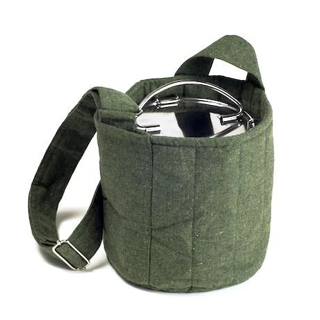 2-Tier Recycled Cotton Carrier Bag - Forest Green