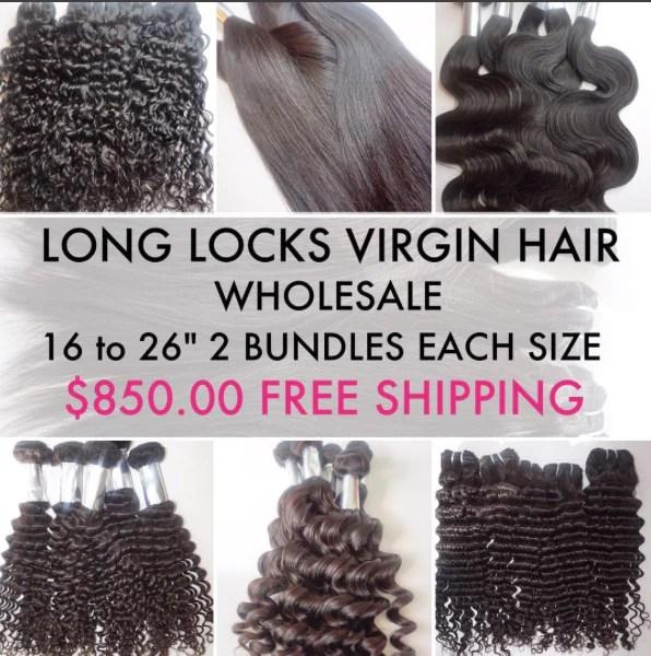 Wholesale Long Locks Virgin Hair